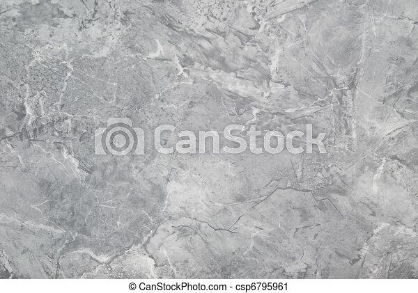 grigio, textute, marmo, superficie, fondo. - csp6795961