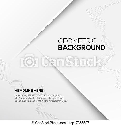 grijs, geometrisch, achtergrond, 3d - csp17385527