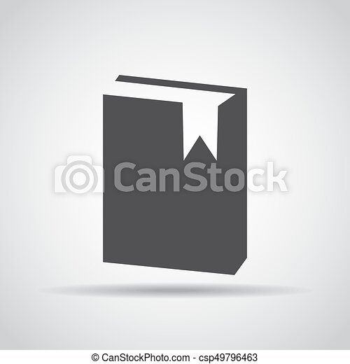 grijs, illustratie, achtergrond., vector, schaduw, boek, pictogram - csp49796463