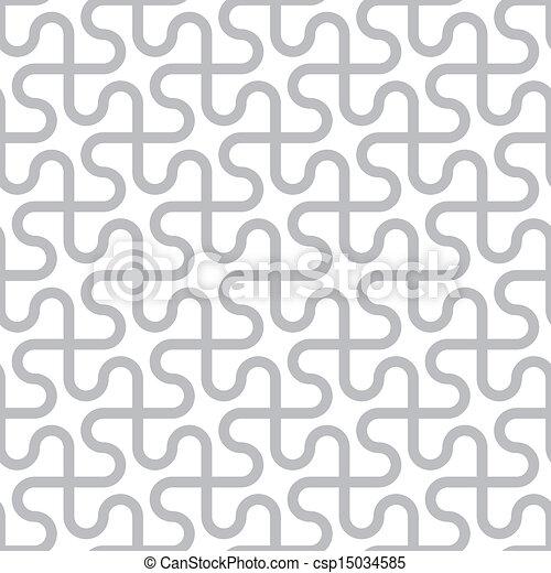 grijs, model, abstract, -, seamless, vector, achtergrond, gebogen, witte lijnen - csp15034585