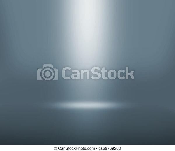 grijs, schijnwerper, kamer - csp9769288