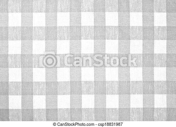 grijs, tafelkleed, gecontroleerde, weefsel - csp18831987