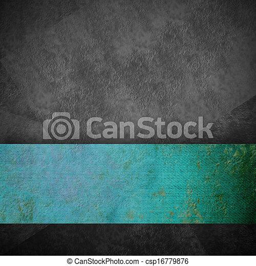 grijs, turkoois, grunge, lint, achtergrond - csp16779876
