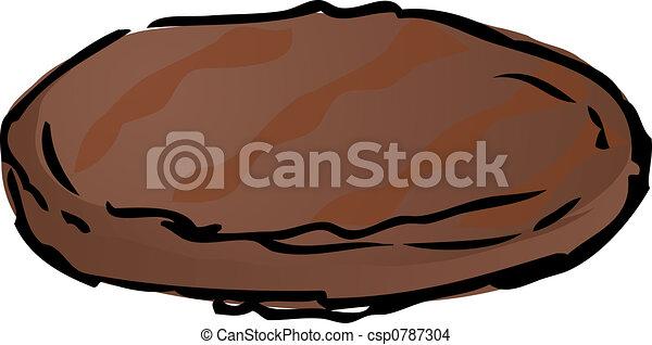 grillé, hamburger, petit pâté - csp0787304
