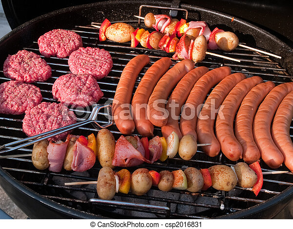 grill, buitenshuis, feestje, bbq, barbeque - csp2016831