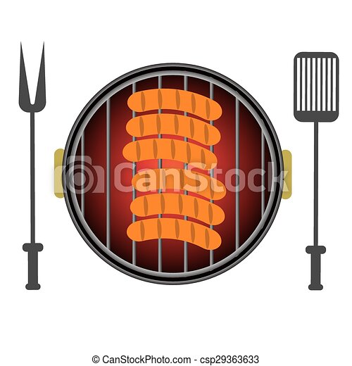 Grill Icon Isolated on White Background - csp29363633