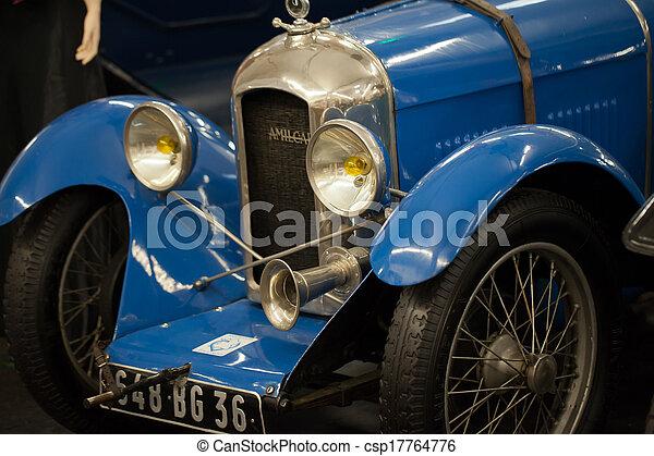 grill, klasszikus, szüret, autó., headlamps, drága - csp17764776