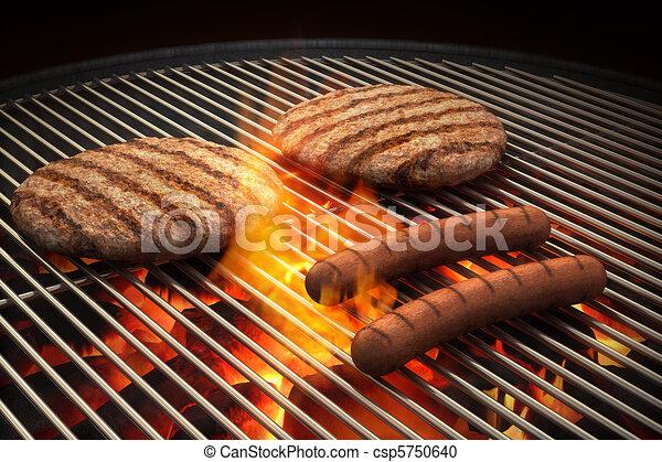 grill, lángoló - csp5750640
