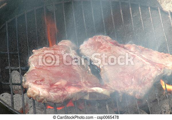 grill, marhaszeletek - csp0065478
