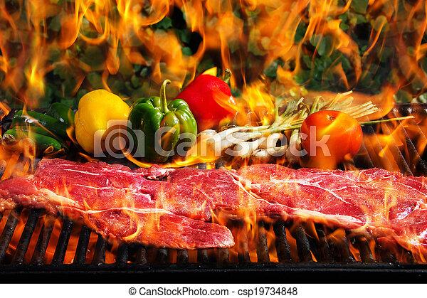 grill, marhaszeletek - csp19734848