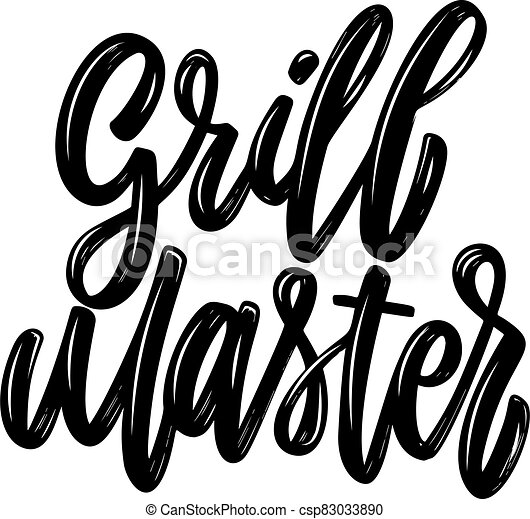 Grill master. Lettering phrase isolated on white background. Design element for poster, card, banner, flyer. Vector illustration - csp83033890