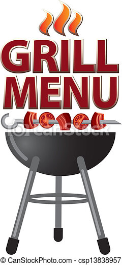 Grill menu card design - csp13838957