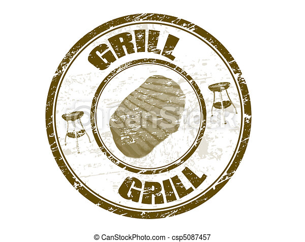 Grill stamp - csp5087457