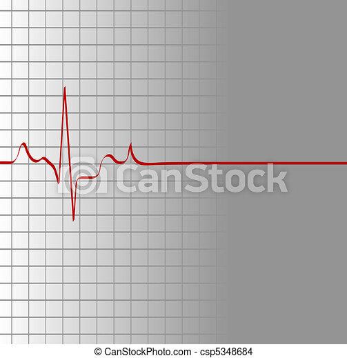 grille, coeur, alors, flatline, battement - csp5348684