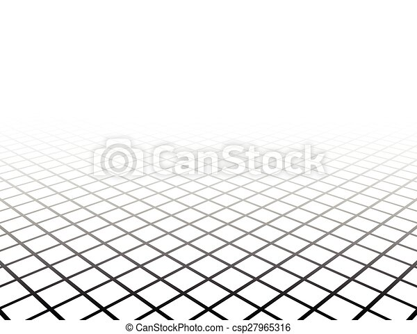 grille, perspective, surface. - csp27965316