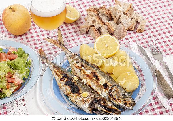 Grilled atlantic horse mackerel meal - csp62264294