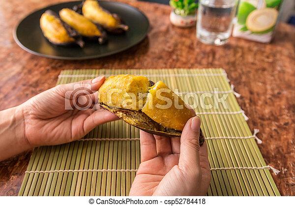 Grilled banana - csp52784418