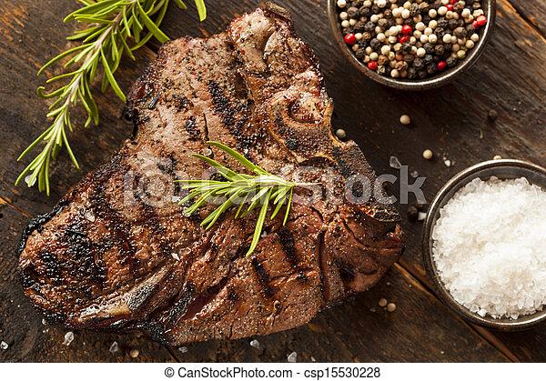 Grilled BBQ T-Bone Steak - csp15530228