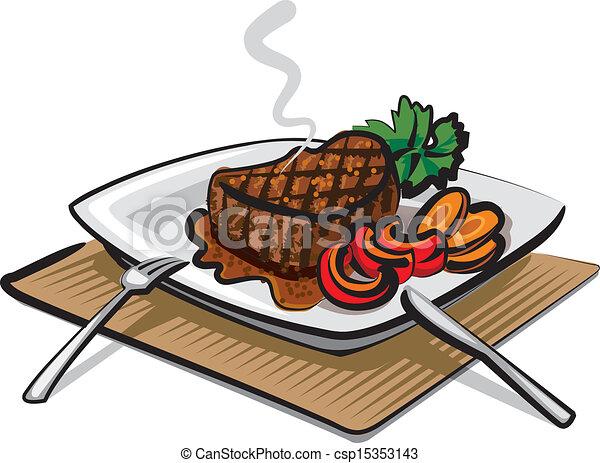 grilled beef steak - csp15353143