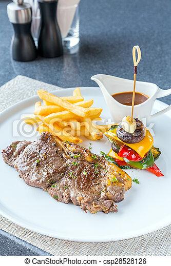 Grilled beef steak - csp28528126