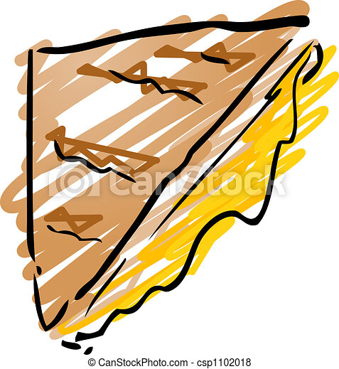 grilled cheese sandwich fast food hand drawn inked look stock rh canstockphoto com  soup and grilled cheese clipart