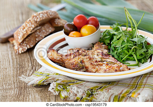 Grilled chicken - csp19543179