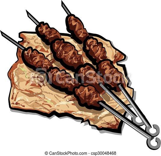 grilled kebab - csp30048468