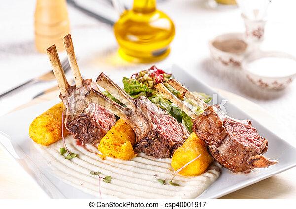 Grilled lamb steak - csp40001917