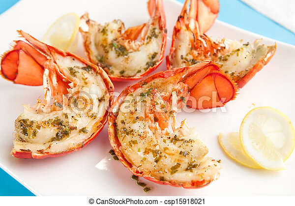 Grilled lobster tails - csp15918021