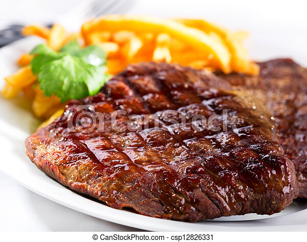 grilled meat - csp12826331