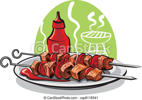 grilled meat  - csp9118341