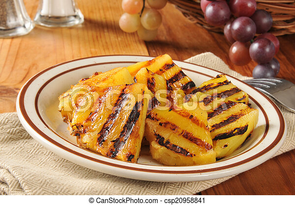 Grilled pineapple slices - csp20958841