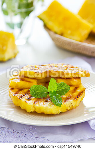 Grilled Pineapple - csp11549740