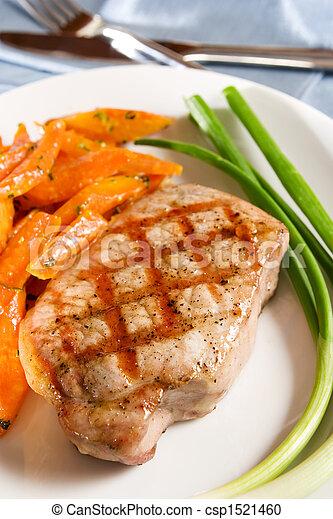 Grilled pork chop - csp1521460