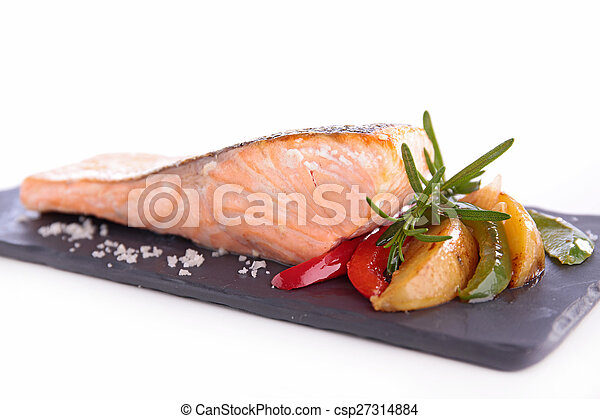 grilled salmon - csp27314884
