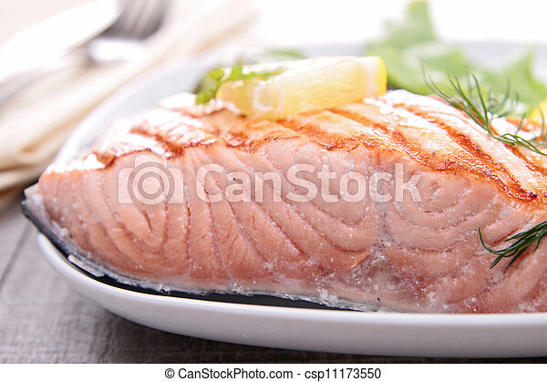 grilled salmon - csp11173550