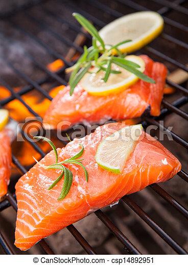 Grilled salmon - csp14892951