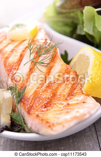 grilled salmon - csp11173543