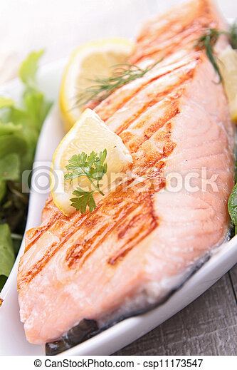 grilled salmon - csp11173547
