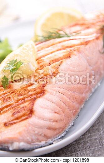 grilled salmon - csp11201898