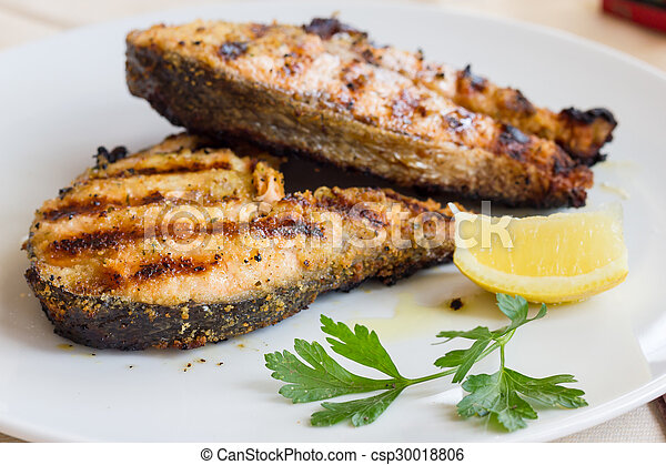 Grilled Salmon - csp30018806
