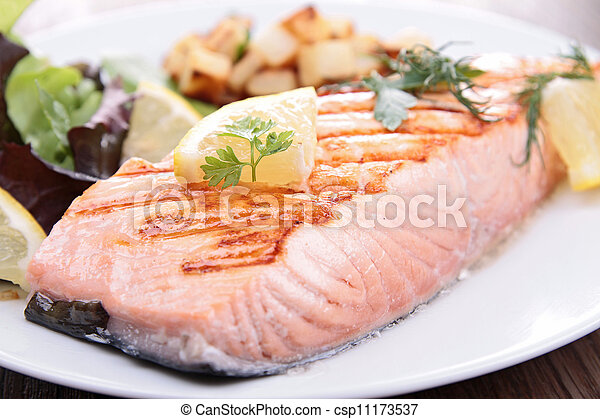 grilled salmon - csp11173537