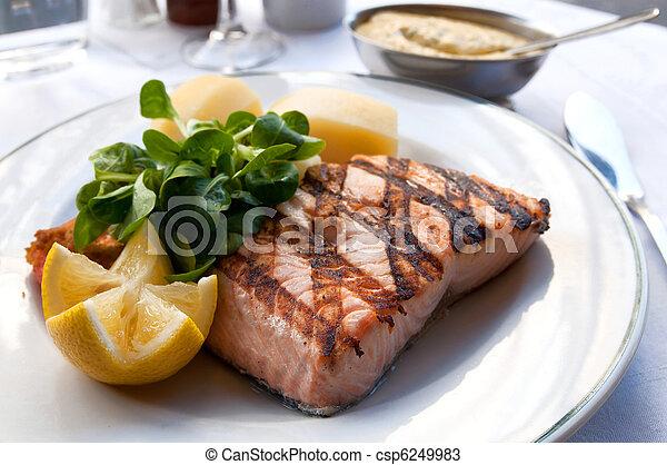 grilled salmon - csp6249983
