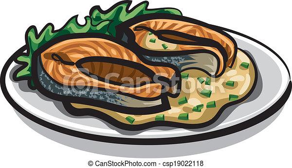 grilled salmon - csp19022118