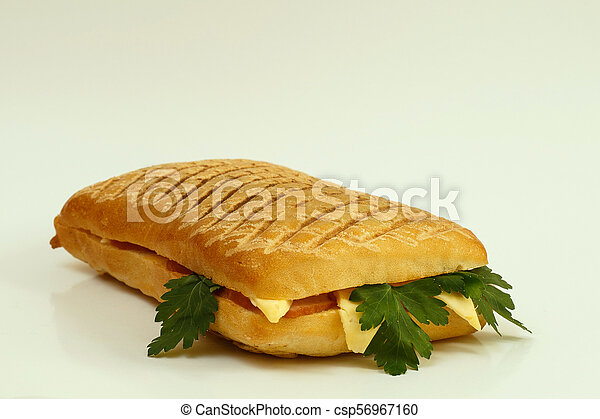 Grilled sandwich with ham and cheese - csp56967160