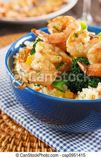 Grilled shrimps - csp0951415
