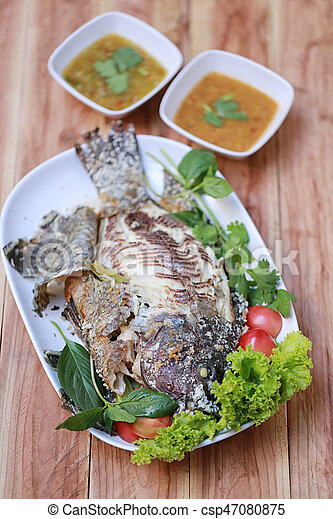 Grilled Tilapia Fish With Salt