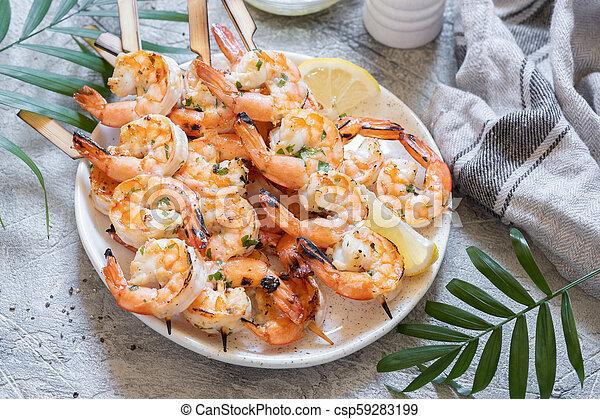 Grilled vegetables platter - csp59283199