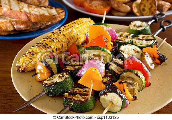 Grilled vegetables - csp1103125