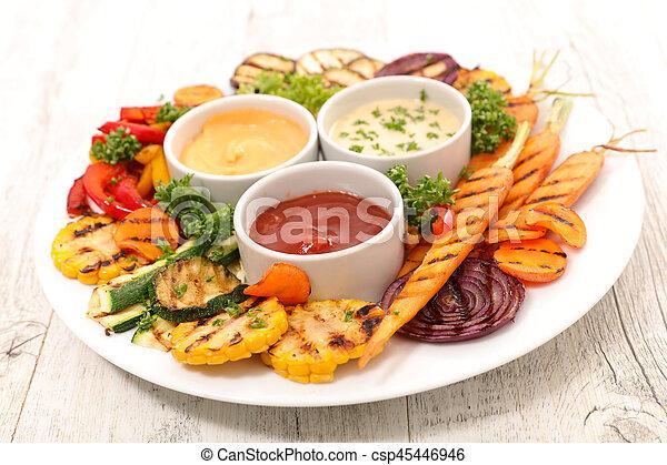 grilled vegetables - csp45446946
